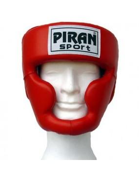 Boxerská helma s lícnicí a...